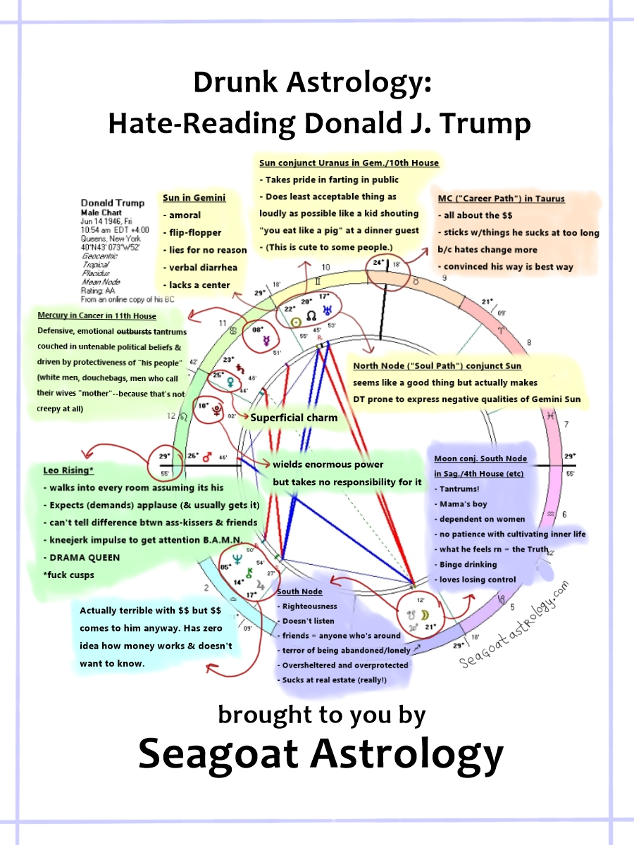 Drunk Astrology Hate Reading Donald J Trump Seagoat Astrology